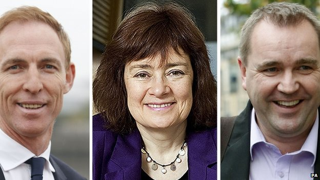 Jim Murphy, Sarah Boyack and Neil Findlay are contesting the Scottish Labour leadership