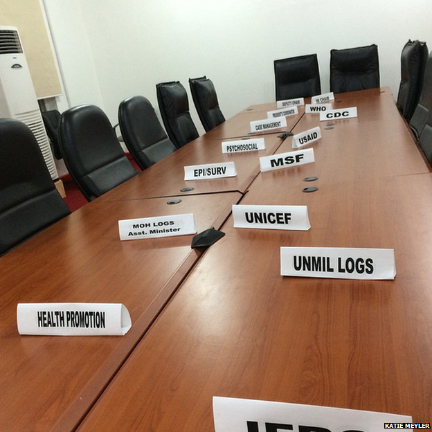 Name plates on a meeting table