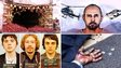 Clockwise: Helmand still, The Uncatchable artwork, Westgate siege, Reykjavik Confessions