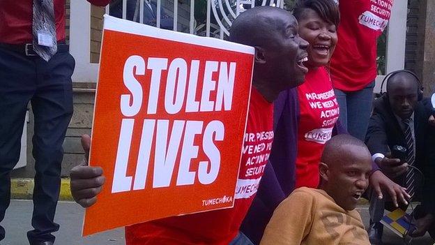 Protesters in Nairobi (25 November 2014)