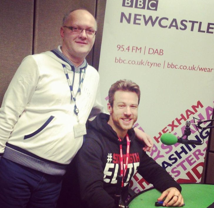 BBC Newcastle's Jonathan Miles with Stuart Hatton