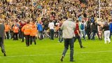 Pitch invasion at Castleford
