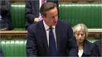 David Cameron speaking in House of Commons
