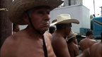 Mexican farmers protesting