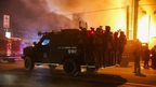 Police say they did not use their firearms during the rioting