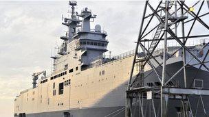 Vladivostok in dock near Saint-Nazaire