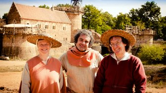 Historian Ruth Goodman and archaeologists Peter Ginn and Tom Pinfold