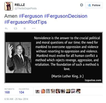 Martin Luther King quote is shared on Twitter