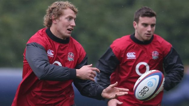 Billy Twelvetrees and George Ford