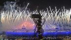 Fireworks during the Opening Ceremony of the 2012 Olympics in London