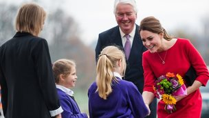 The Duchess of Cambridge meet local school children as she visits an EACH event in Norwich