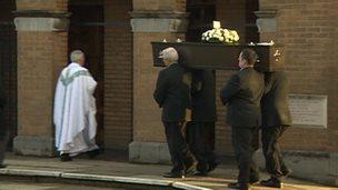 Funeral of Megan Storey and Jordanna Goodwin