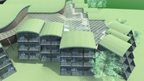 An artist's impression of how the golf resort would have looked