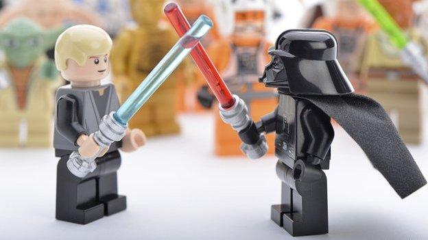 Star wars scene in Lego