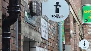 Sign for mens' toilets