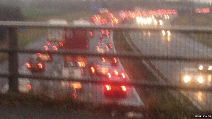 Traffic at a standstill