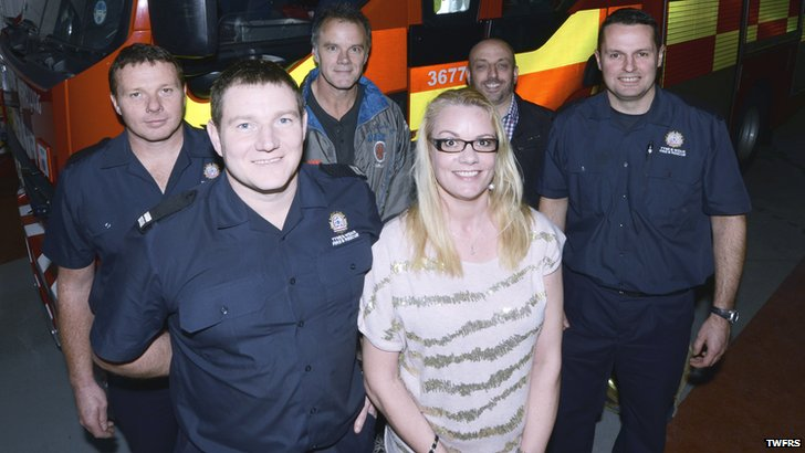 Candace Emptage with fire crew