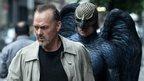 Michael Keaton and friend in Birdman