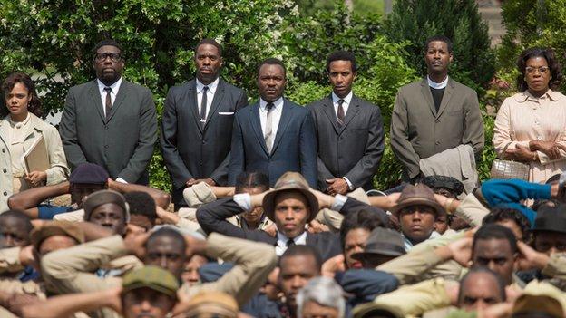 David Oyelowo (centre) in Selma