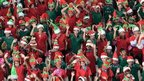 Hundreds of Christmas elves