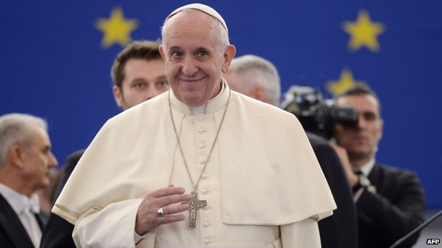 Pope Francis in Strasbourg (25 Nov)