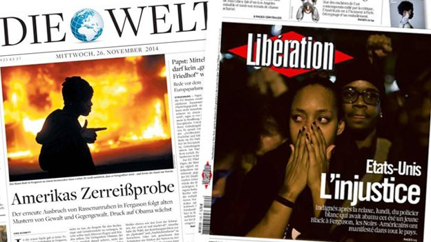 German newspaper Die Welt                  and French newspaper Liberation