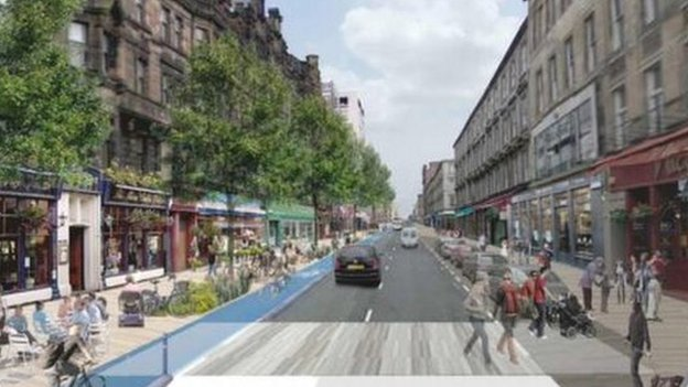 "The report proposes making Sauchiehall Street into a more pedestrian-friendly ""avenue"""
