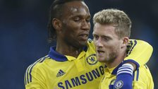 Didier Drogba and Andre Schurrle