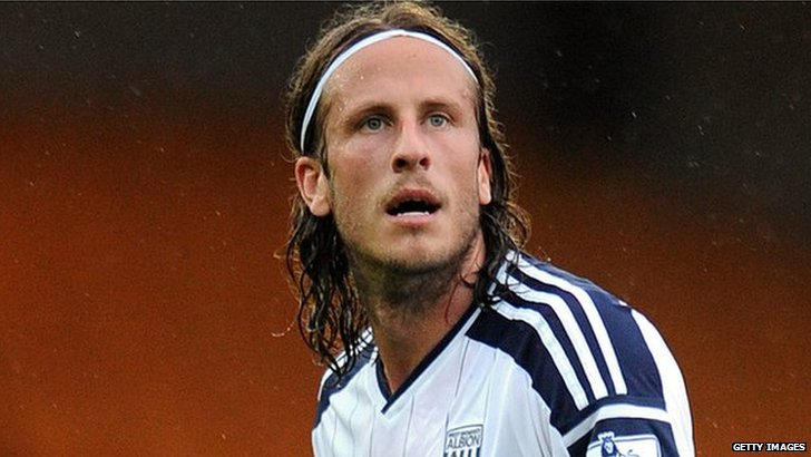 West Brom defender Jonas Olsson