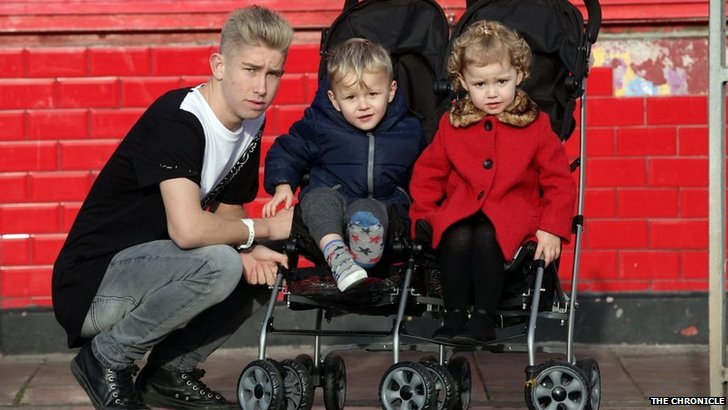 Ethan Tait with his nephew and niece