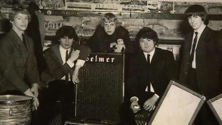 The N betweens with drummer Dom Powell second from left and lead guitarist Dave Hill far right
