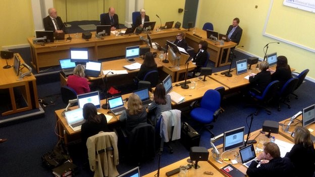 The Historical Institutional Abuse inquiry is taking place in Banbridge courthouse, County Down
