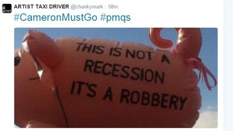 Tweet about recession