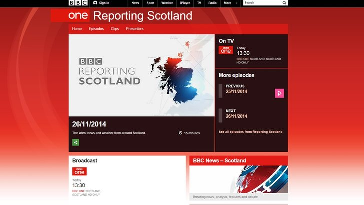 BBC's Reporting Scotland