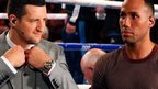 Carl Froch (right) and James DeGale