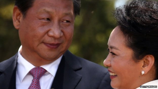 Chinese President Xi Jinping and his wife Peng Liyuan in Australia (17 November 2014)