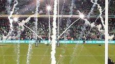 Fireworks went off before the start of the Ireland v Australia game at the Aviva Stadium