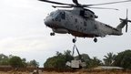 Culdrose helicopter in Ebola fight