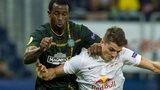 Celtic's Efe Ambrose battles with Salzburg's Marcel Sabitzer