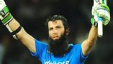 Moeen Ali acknowledges his century in Colombo