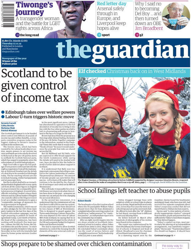 Federal UK and 2m gastric ops - front pages...