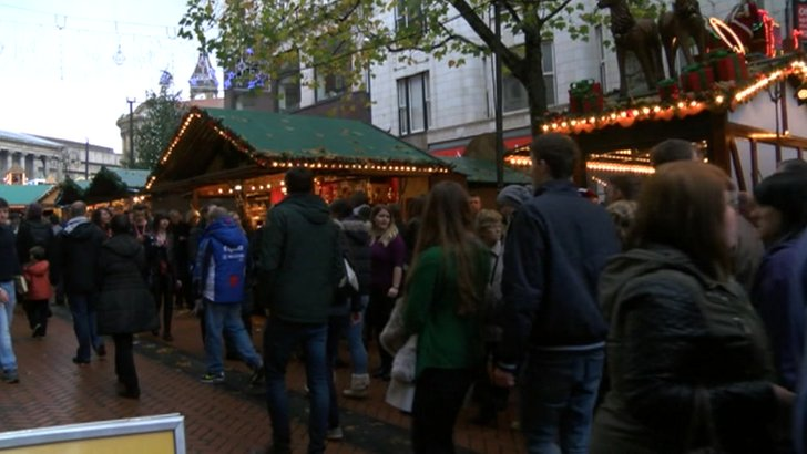 Birmingham's Frankfurt Christmas Market November 2014