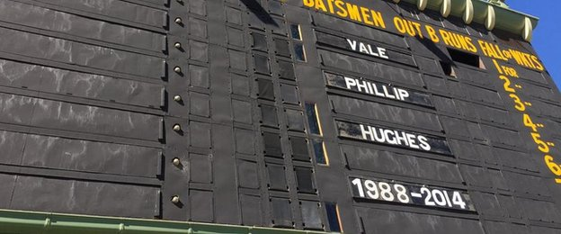 Adelaide Oval's Phillip Hughes tribute