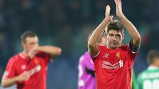 Liverpool captain Steven Gerrard at full-time