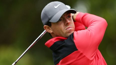 Rory McIlroy in action in Sydney on Thursday