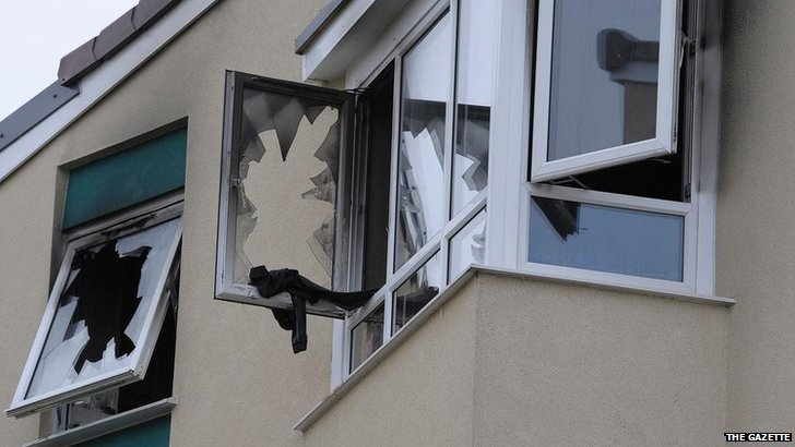 Smashed windows