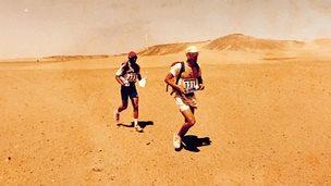 Running in the 1994 Marathon des Sables