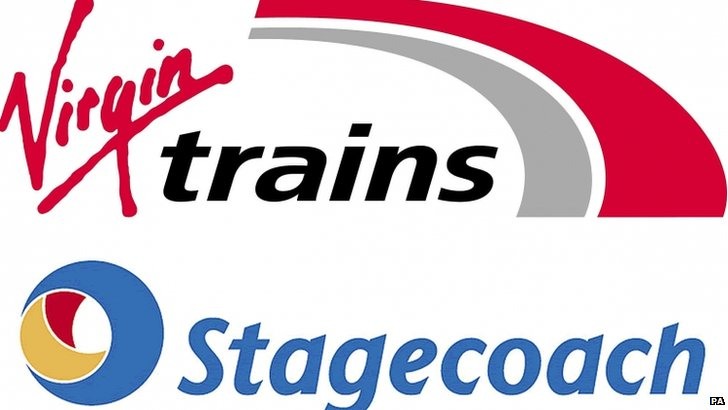Virgin Trains and Stagecoach logos