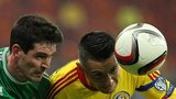 Kyle Lafferty battles with Dragos Grigore in Bucharest