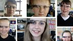 Wick High School pupils wearing Google Glass